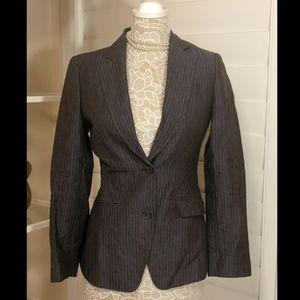 Brooks Brothers Stellita Fit Pinstripe Blazer, Blu